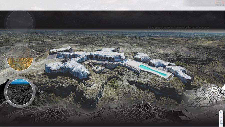 Refugio del cielo bienal e arquitectura